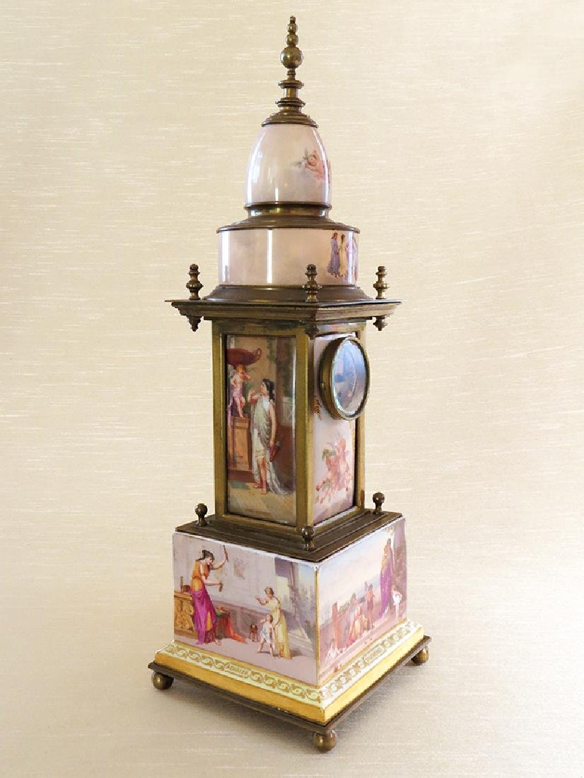 Magnificent 19th C. hand painted Royal Vienna Clock - 2
