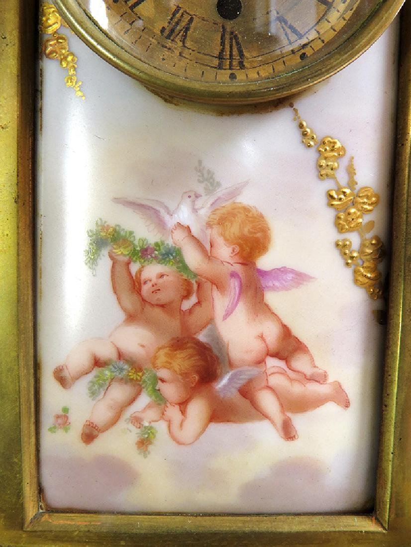 Magnificent 19th C. hand painted Royal Vienna Clock - 4