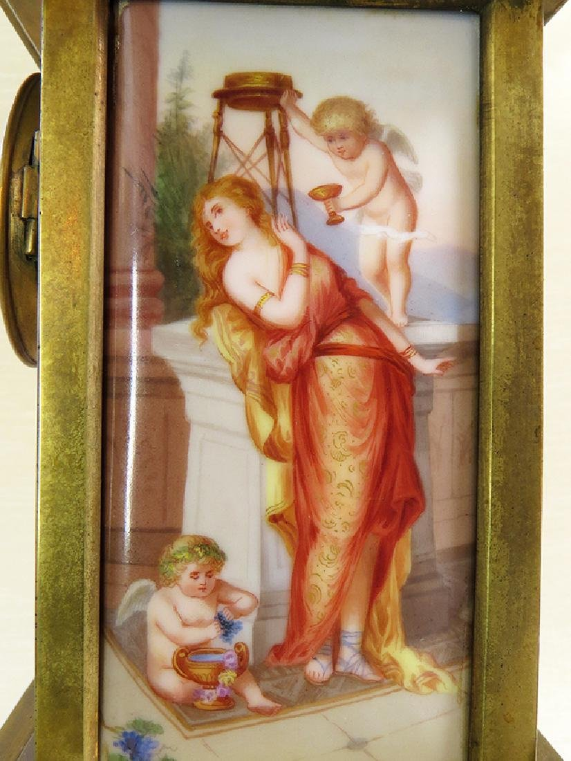 Magnificent 19th C. hand painted Royal Vienna Clock - 6