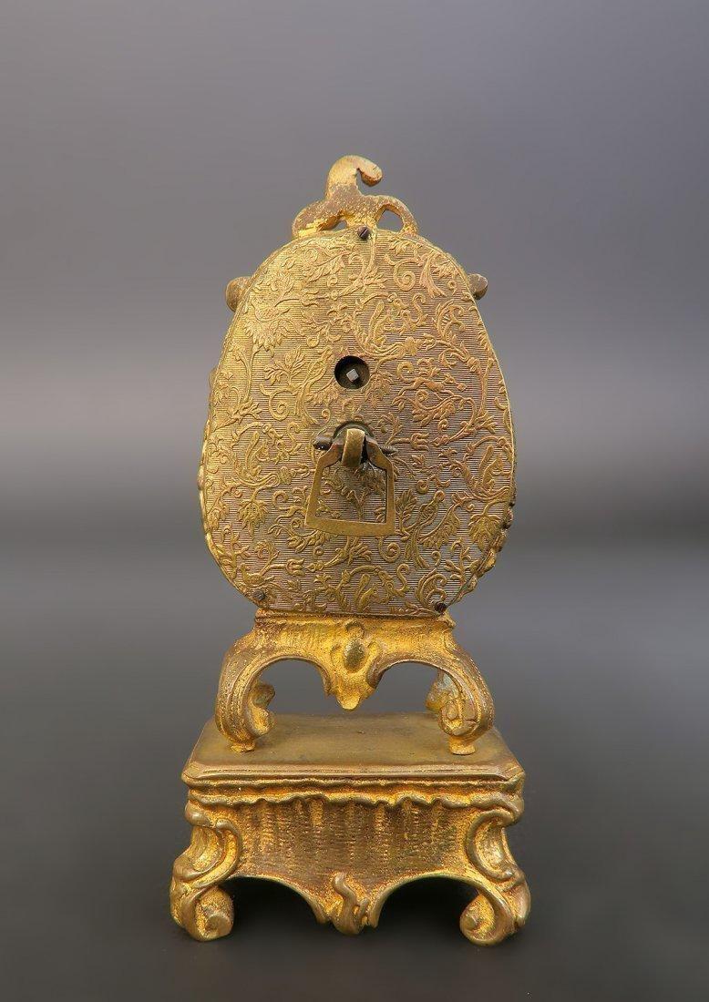 19th C. Viennese Enamel on Bronze Clock - 3