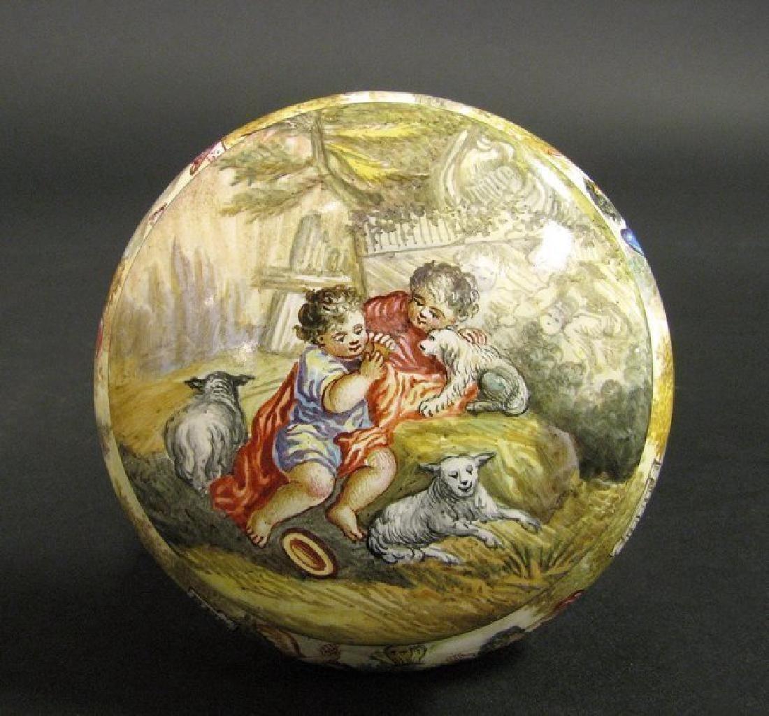 19th C. Viennese Enamel on Silver Miniature box