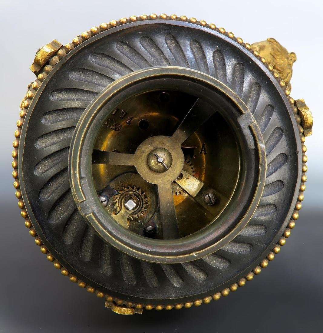 Exceptional 19th C. French Rotary Clock Set - 9