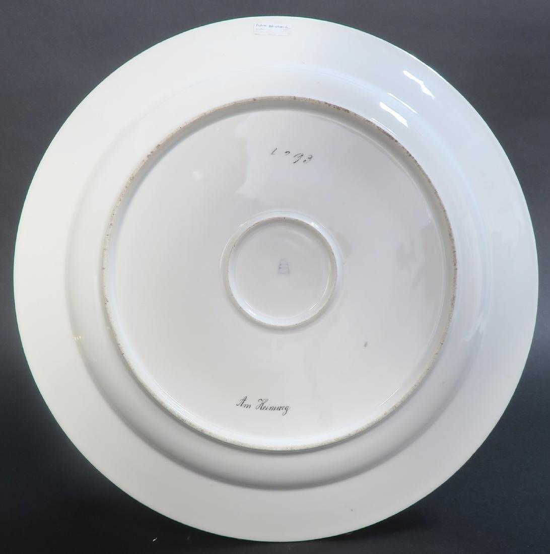Large Pair Royal Vienna Porcelain Plates - 6