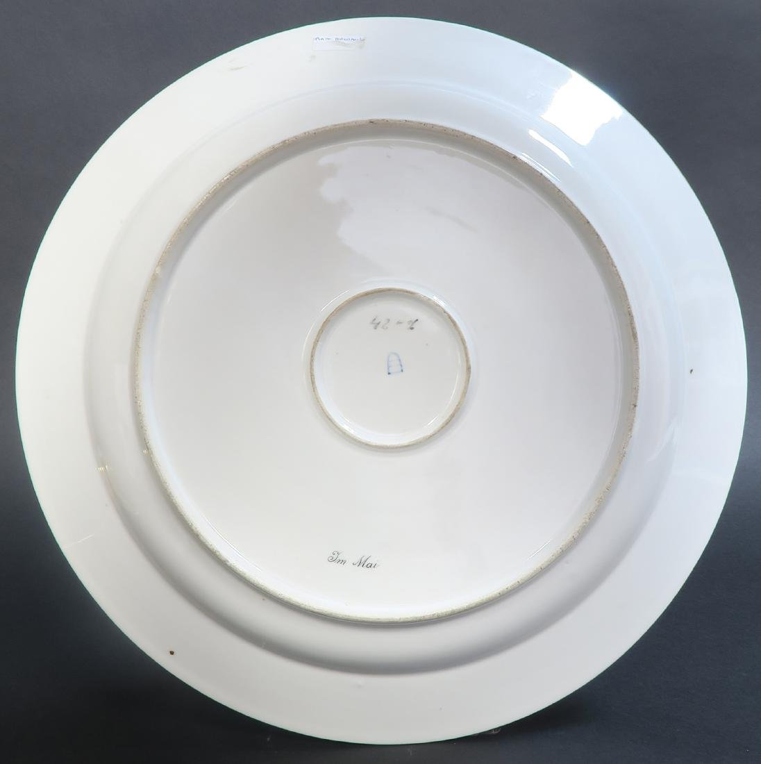 Large Pair Royal Vienna Porcelain Plates - 7