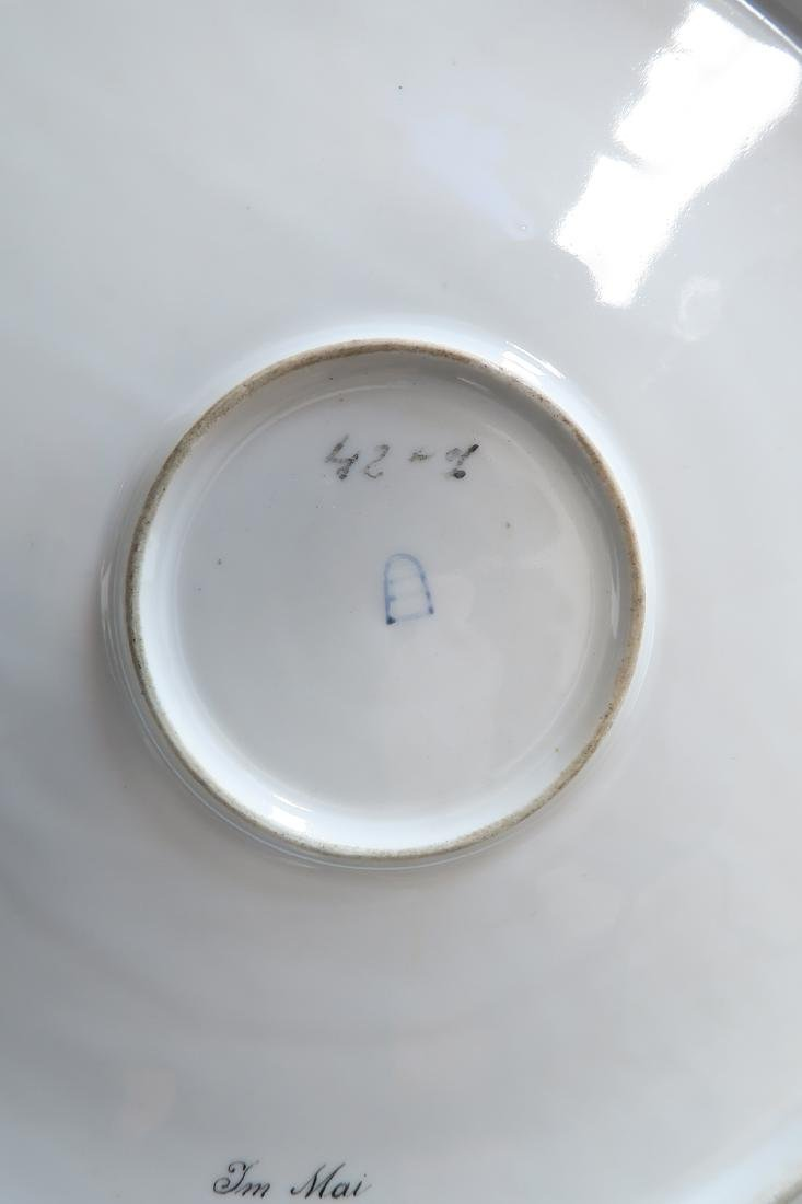 Large Pair Royal Vienna Porcelain Plates - 8