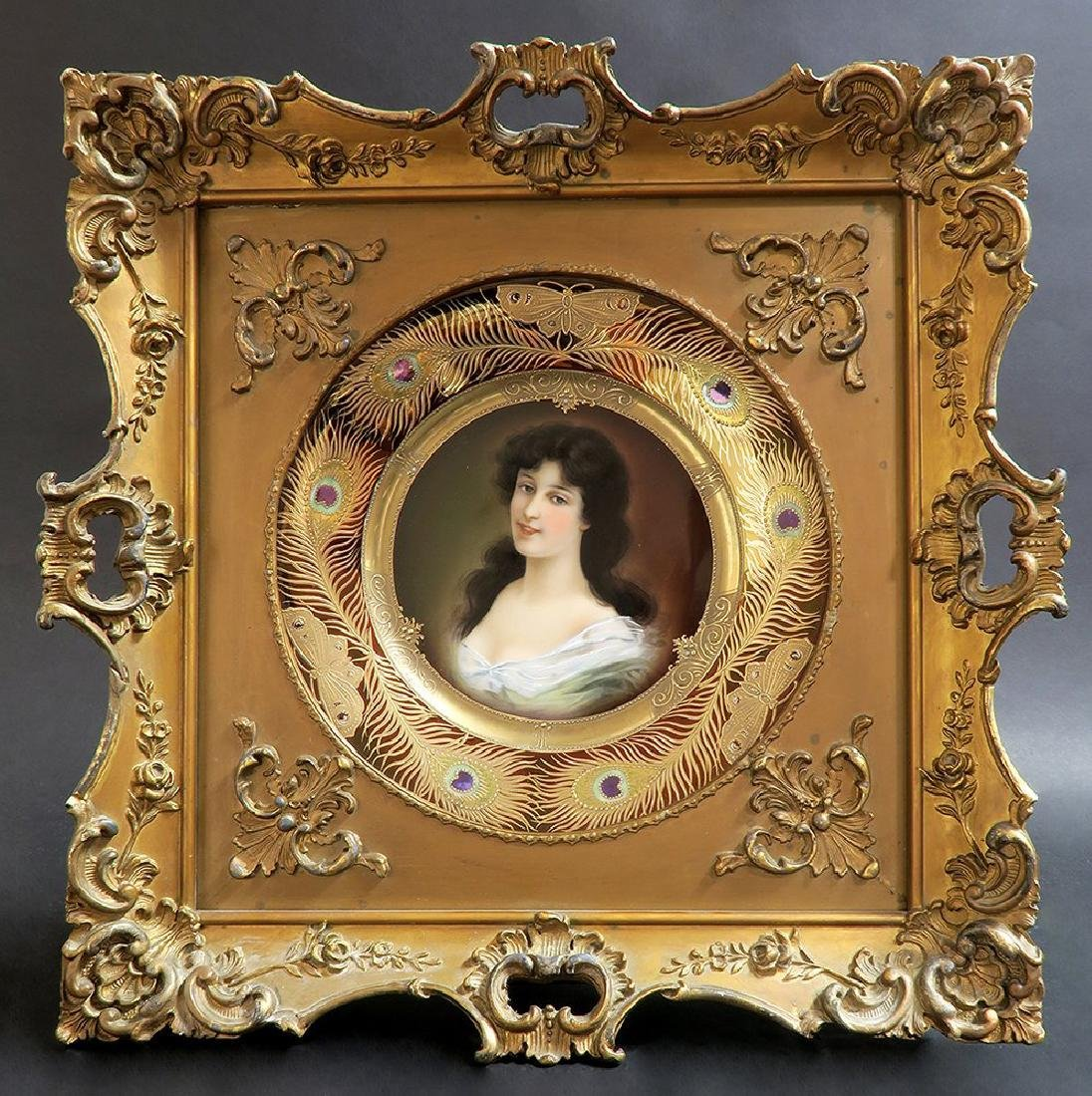 19th C Framed Hand Painted Royal Vienna Plate