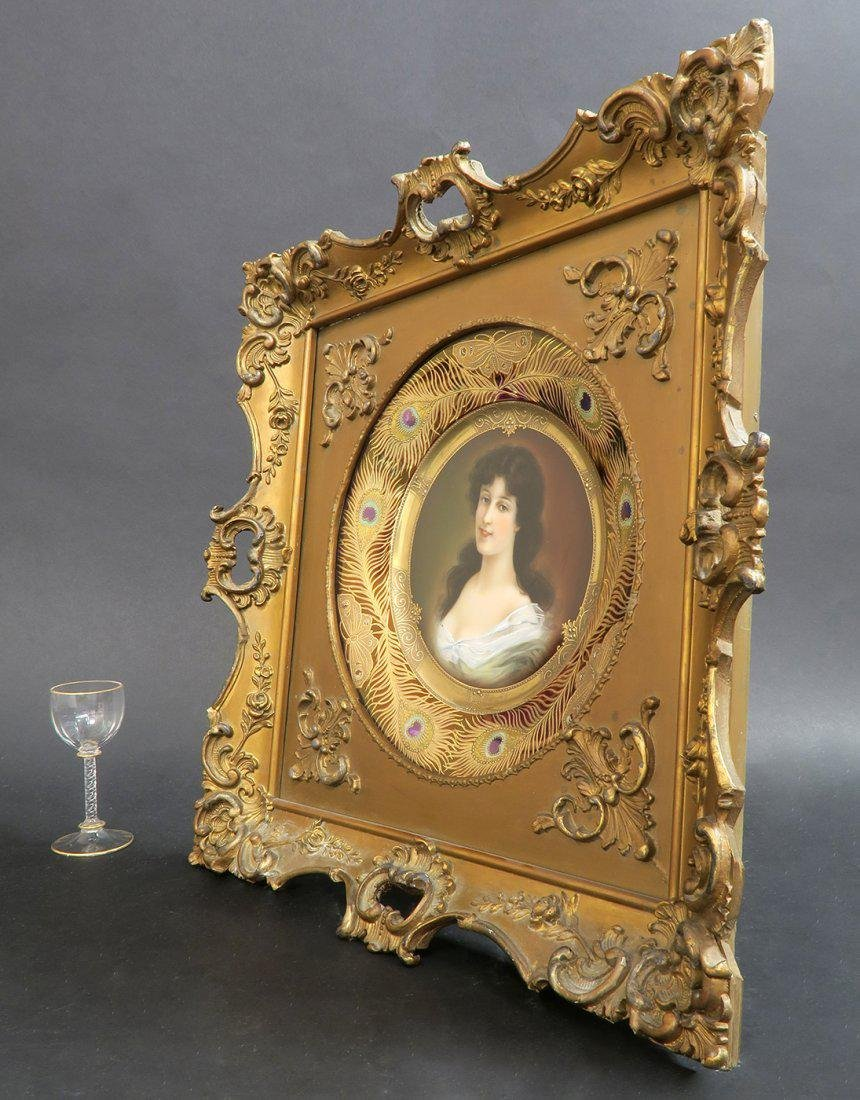 19th C Framed Hand Painted Royal Vienna Plate - 3
