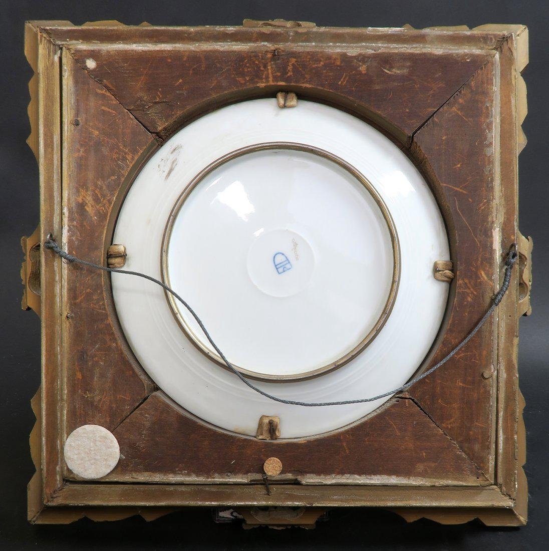 19th C Framed Hand Painted Royal Vienna Plate - 4