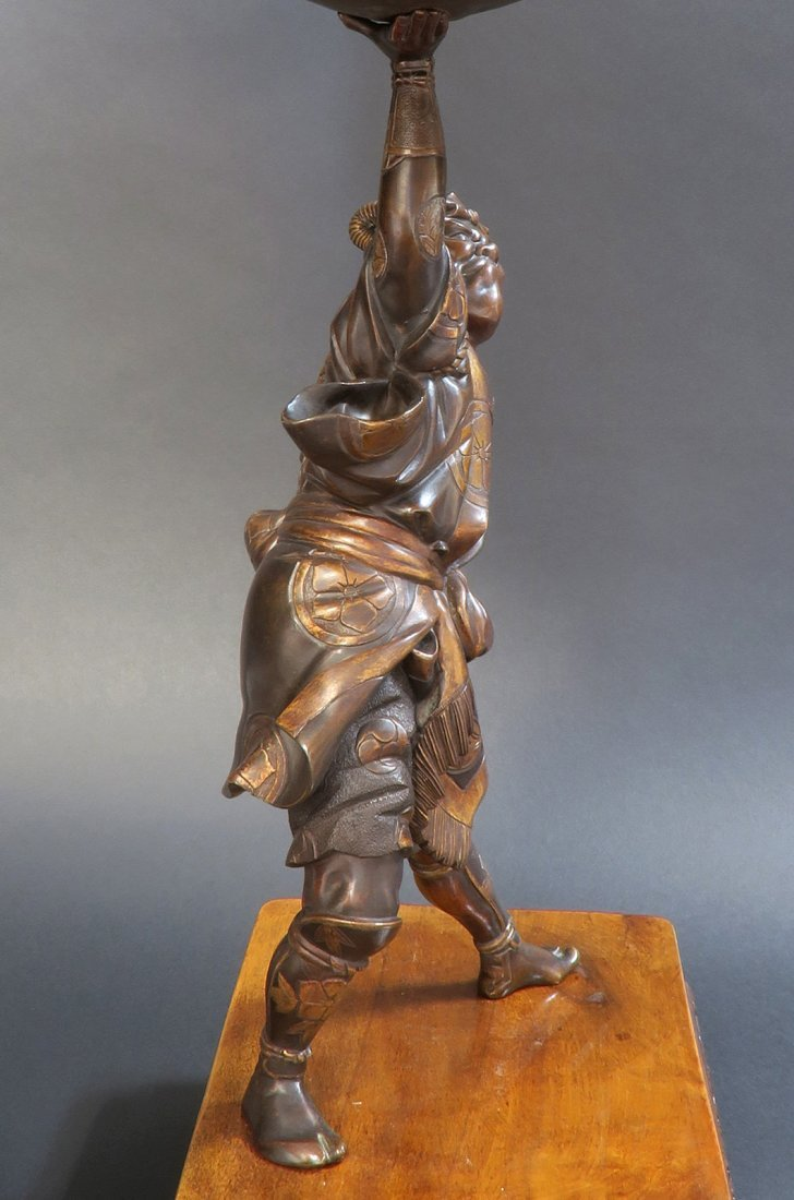 Large Japanese Bronze Figural Centerpiece, 19th C. - 4