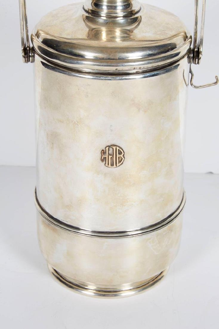 """""""Cartier"""" French Sterling Silver & Gold Ice Bucket - 2"""