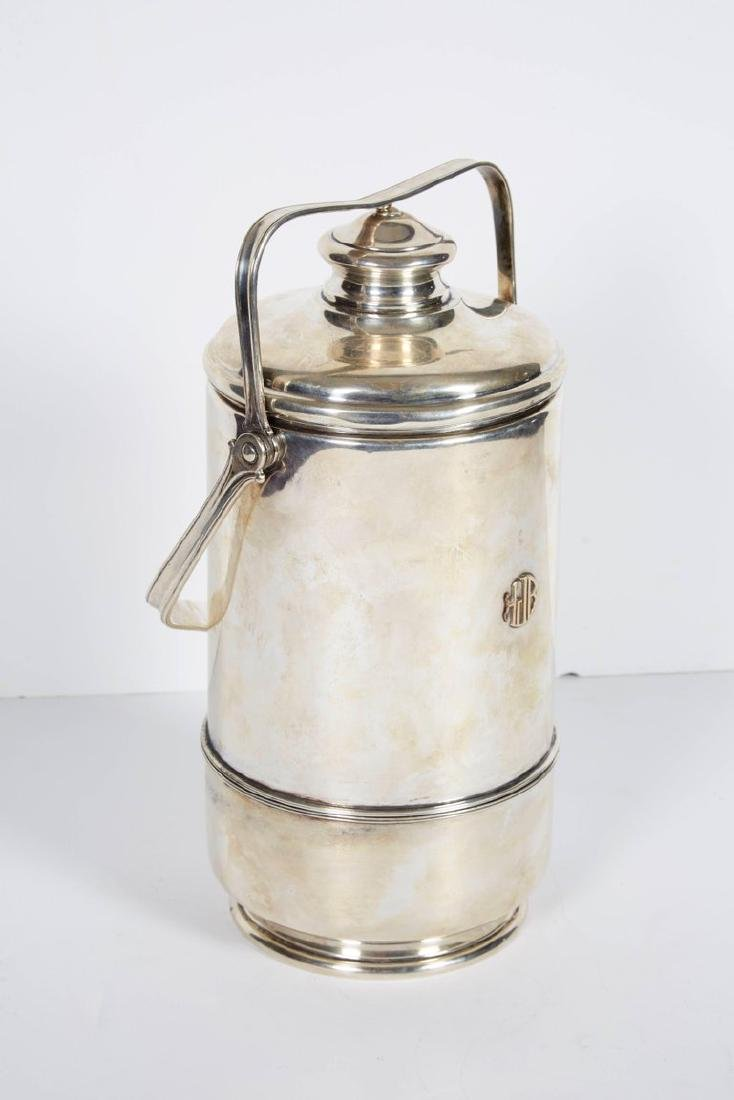 """""""Cartier"""" French Sterling Silver & Gold Ice Bucket - 4"""