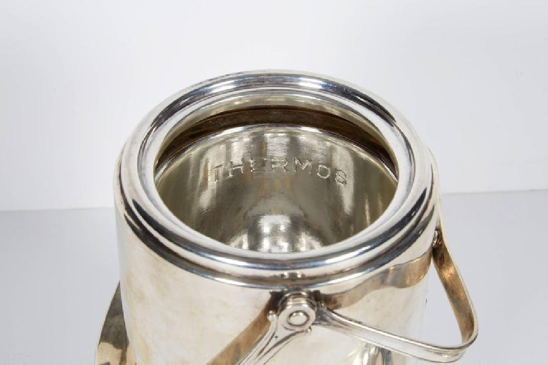 """""""Cartier"""" French Sterling Silver & Gold Ice Bucket - 5"""