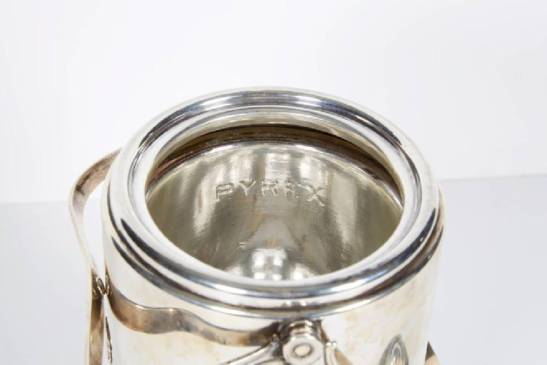 """""""Cartier"""" French Sterling Silver & Gold Ice Bucket - 6"""