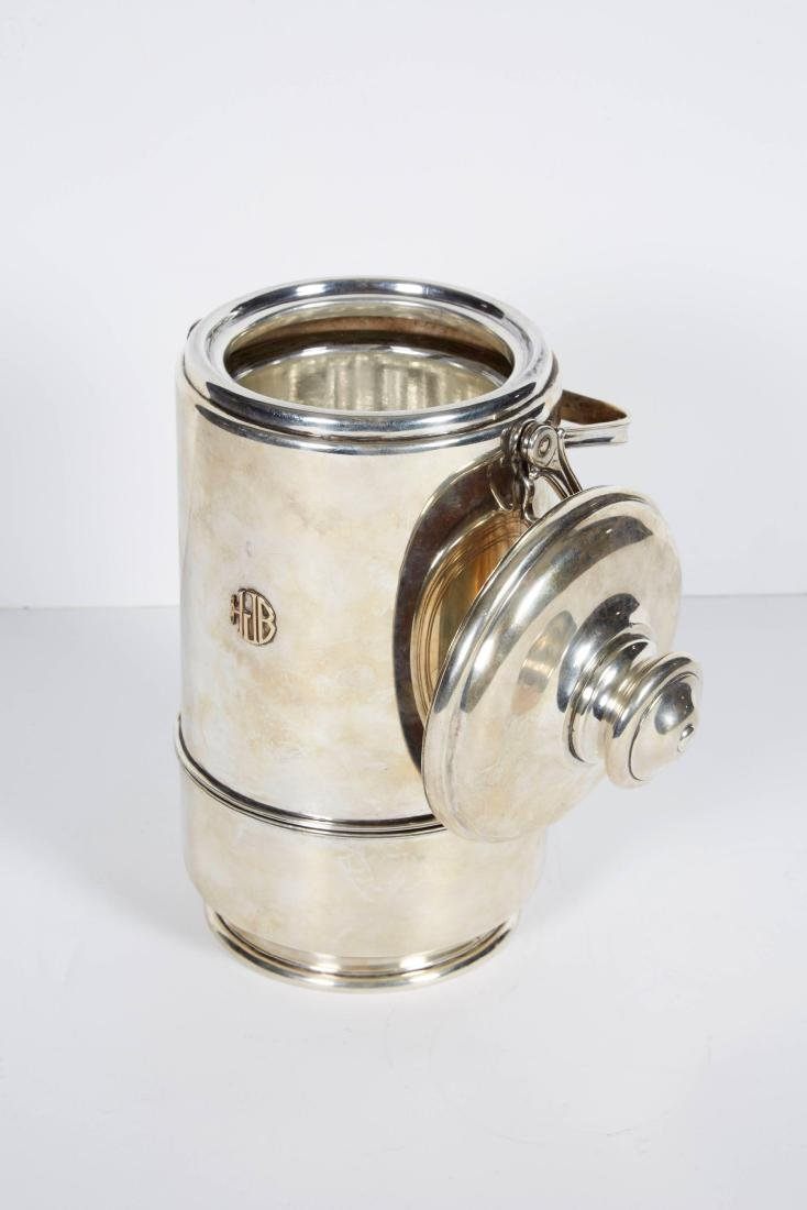 """""""Cartier"""" French Sterling Silver & Gold Ice Bucket - 7"""
