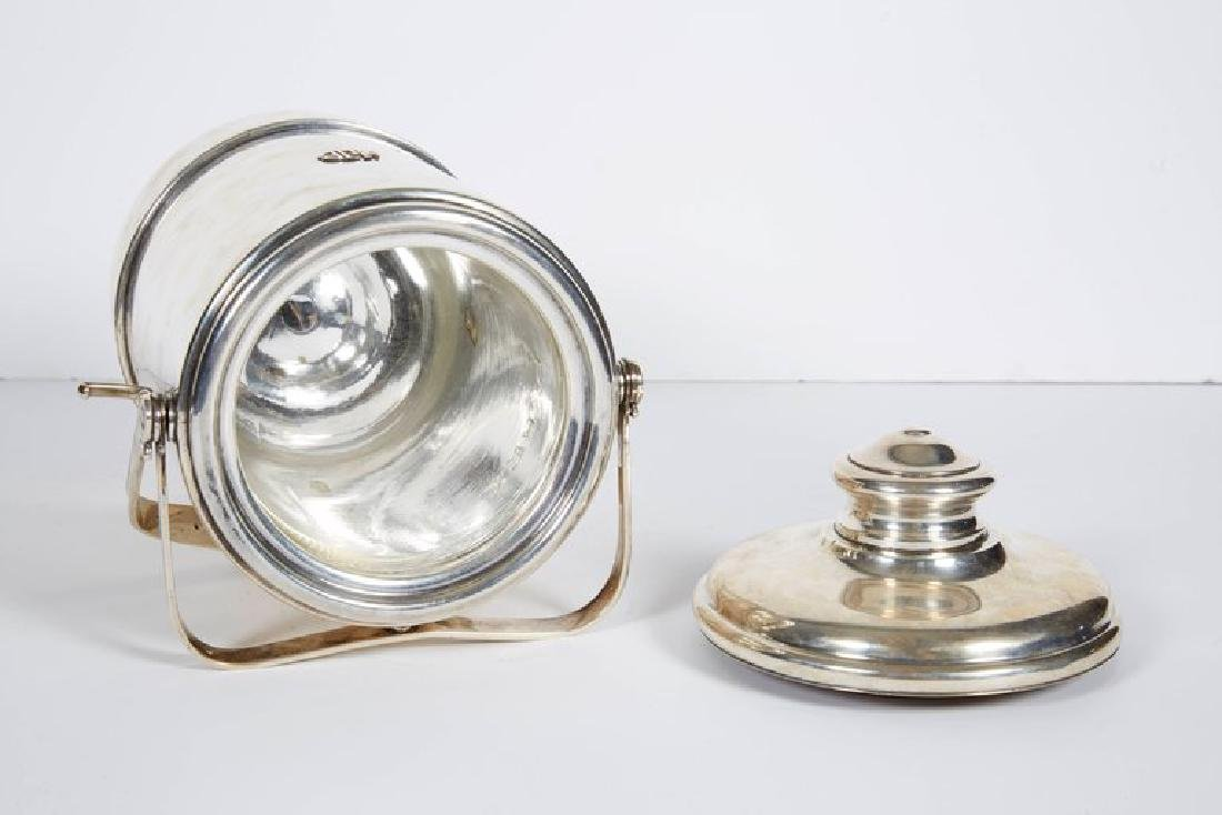 """""""Cartier"""" French Sterling Silver & Gold Ice Bucket - 8"""