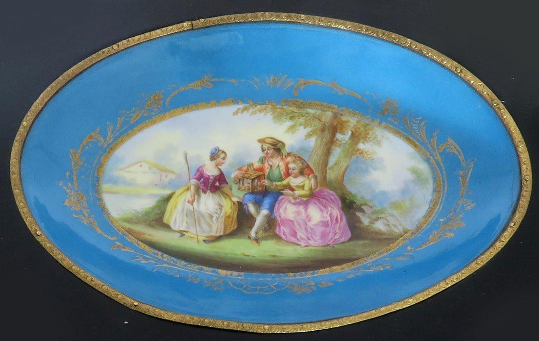 French Bronze & Sevres Porcelain Side Table - 5