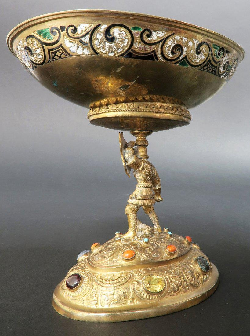 Austrian/Viennese Silver & Enamel Centerpiece - 3