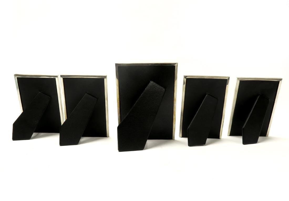 """Set of 5 """"Tiffany & Co."""" Sterling Silver Picture Frames - 3"""