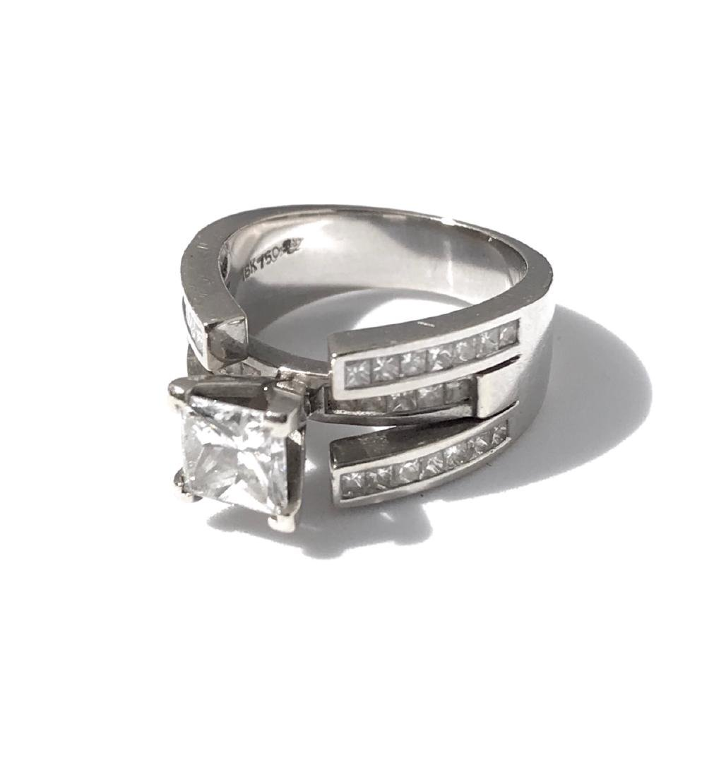 Lady's 18kt White Gold With Diamonds Engagement Ring - 2