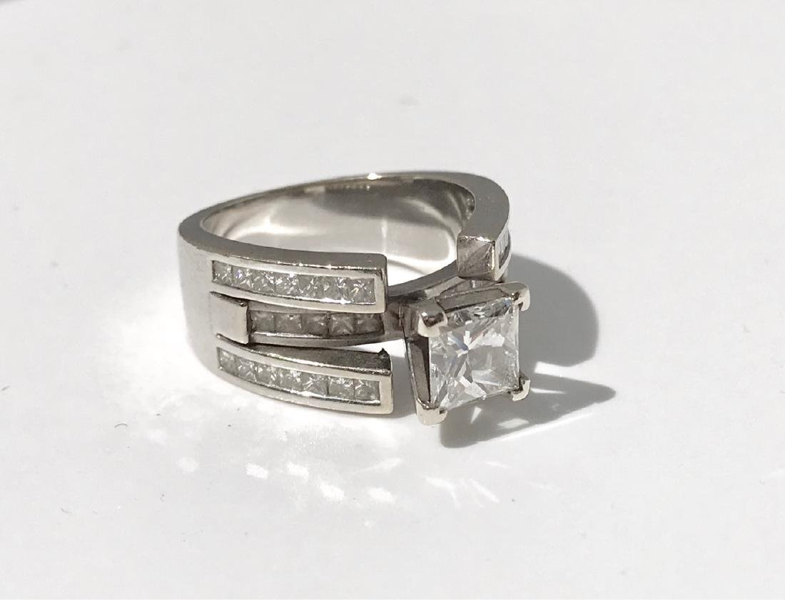 Lady's 18kt White Gold With Diamonds Engagement Ring - 5