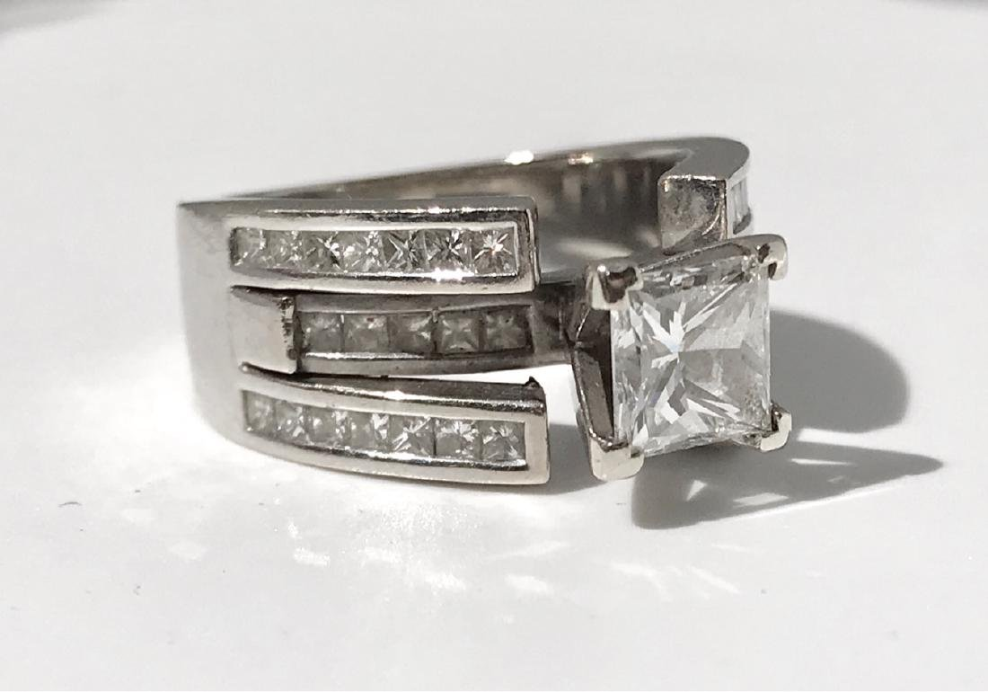 Lady's 18kt White Gold With Diamonds Engagement Ring - 6