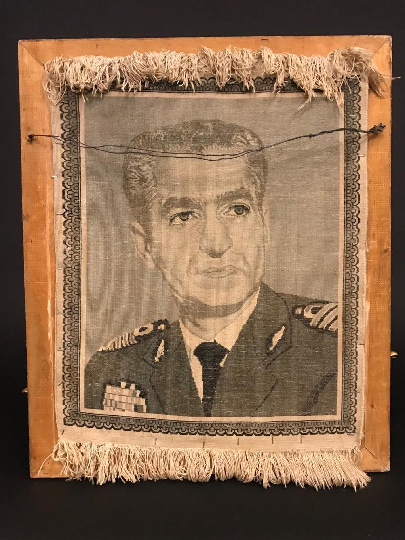 Former Shah of Iran (M. Pahlavi) Portrait Persian Rug - 3