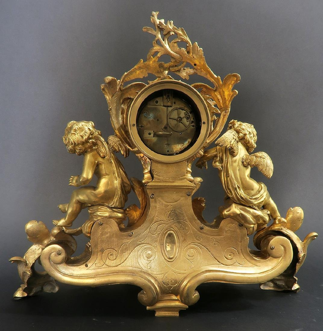 Very large 19th C. Figural Bronze Clock Set - 10