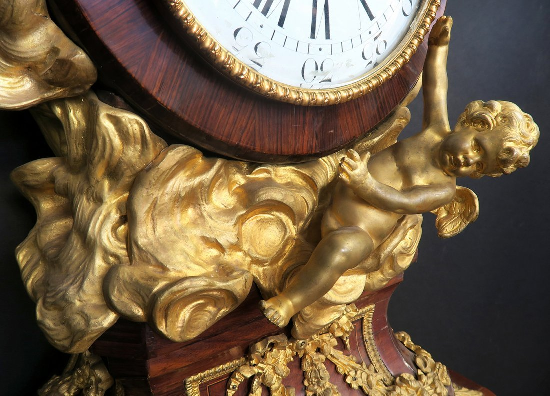 Figural Bronze & Kingwood Regulateur de Parquet - 6