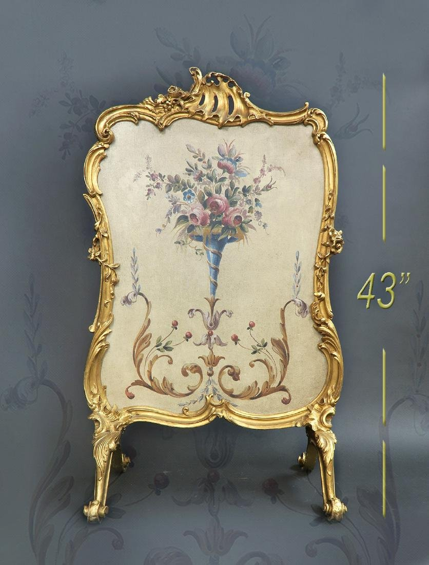 19th C. French Aubusson Screen