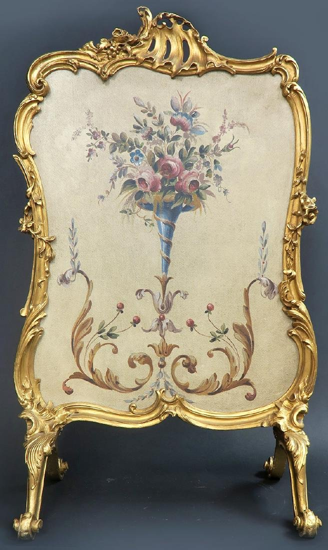 19th C. French Aubusson Screen - 2