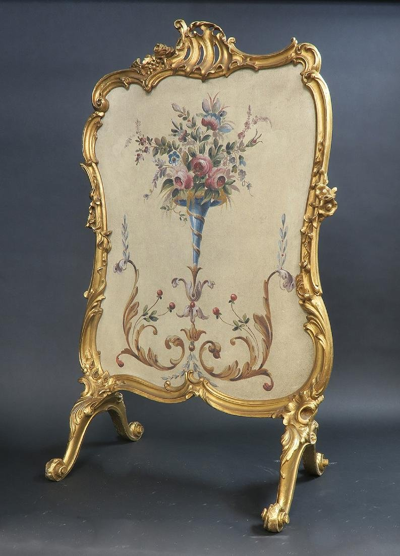 19th C. French Aubusson Screen - 3