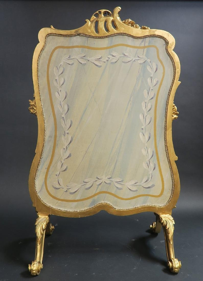 19th C. French Aubusson Screen - 5