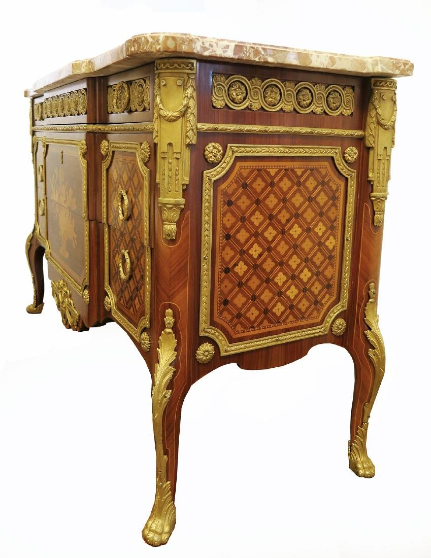 Fine 19th C. French Bronze Mounted Commode - 3