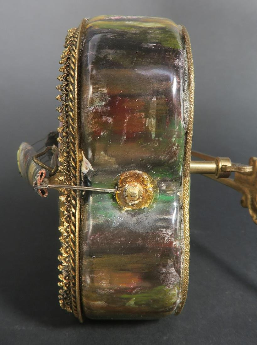 Large Austrian/Viennese Enamel & Bronze Violin Figurine - 8