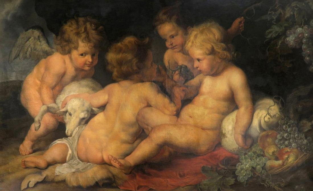 Large French Oil on Canvas Signed after Rubens - 2