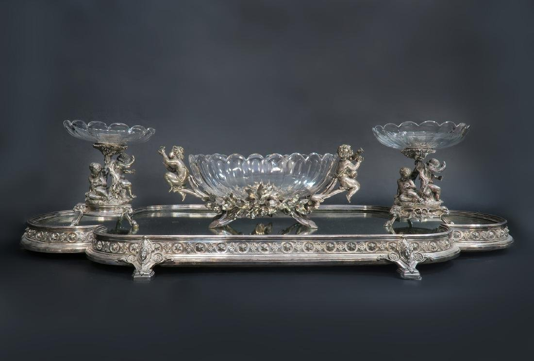 French Christofle Three-Piece Table Garniture / Plateau - 2
