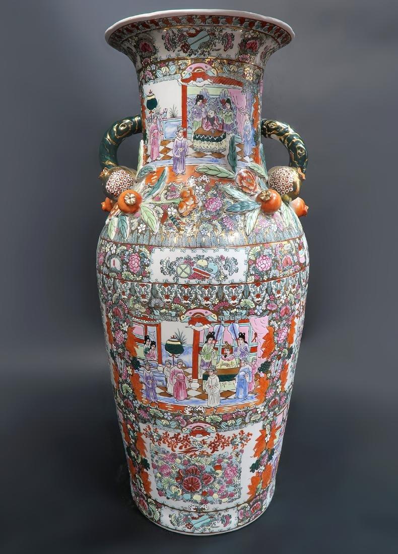 Monumental Qing Dynasty Style Chinese Vase - 2