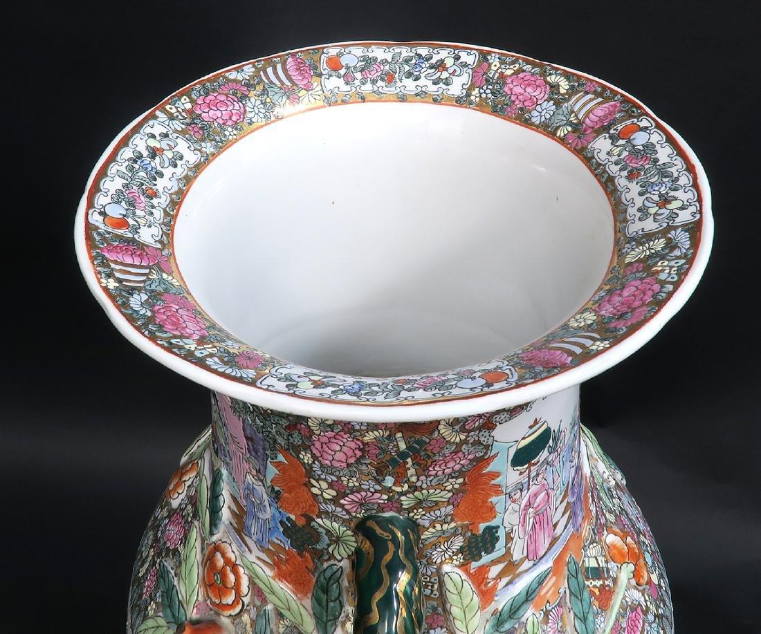 Monumental Qing Dynasty Style Chinese Vase - 4