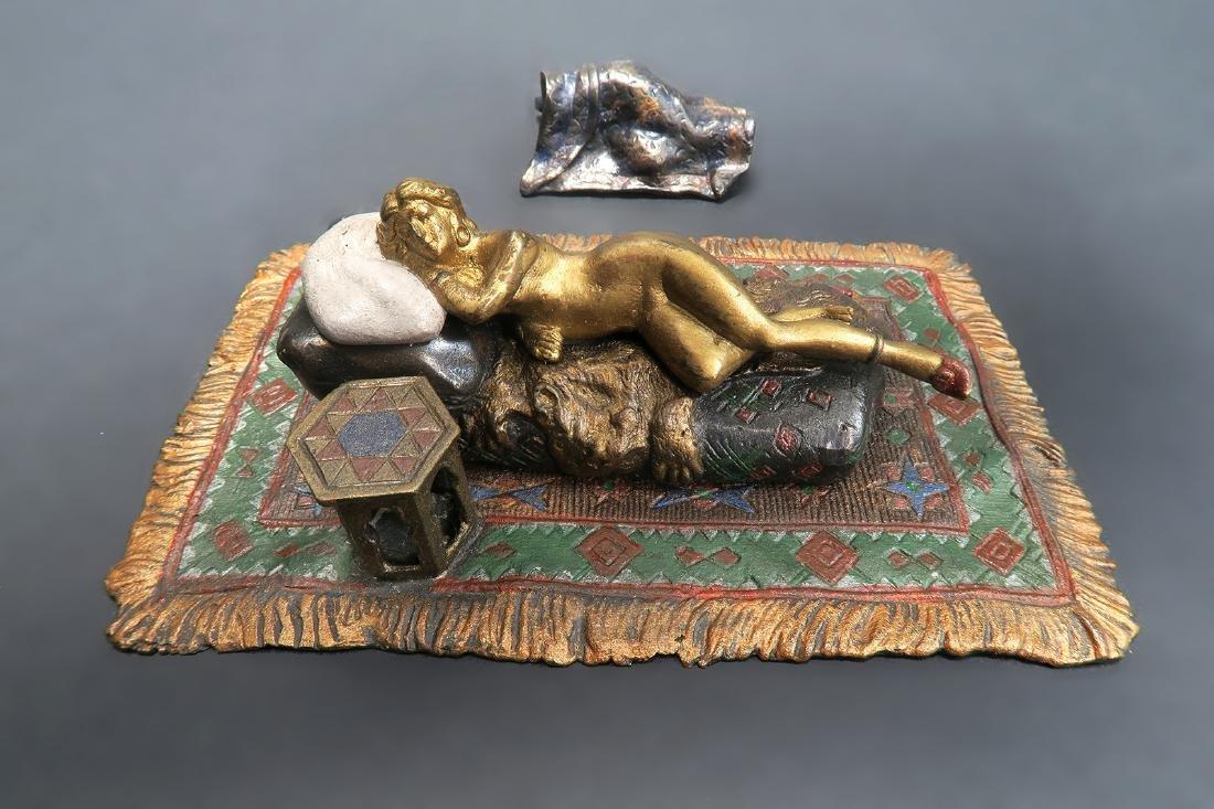 Cold Painted Orientalist Vienna Bronze by Bergman - 2