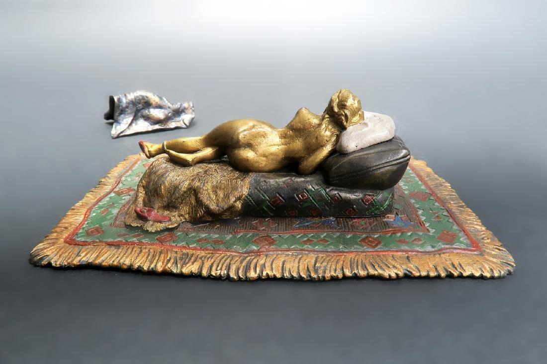 Cold Painted Orientalist Vienna Bronze by Bergman - 4
