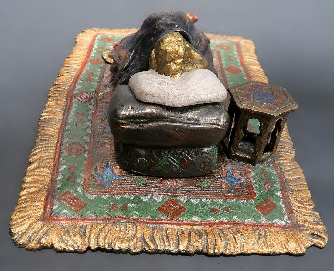 Cold Painted Orientalist Vienna Bronze by Bergman - 5
