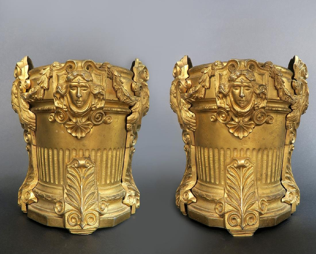 Magnificent Pair of 19th C French Figural Vases
