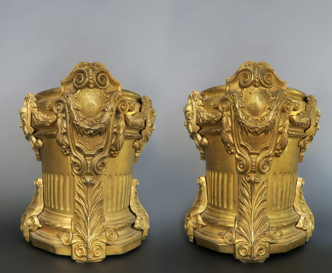 Magnificent Pair of 19th C French Figural Vases - 2