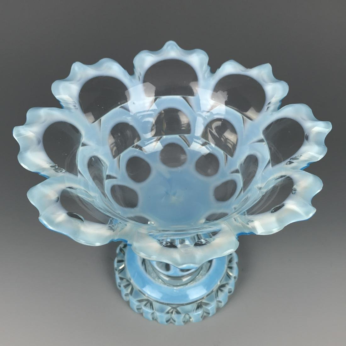 19th C. Bohemian Diamond Cut Compote - 3