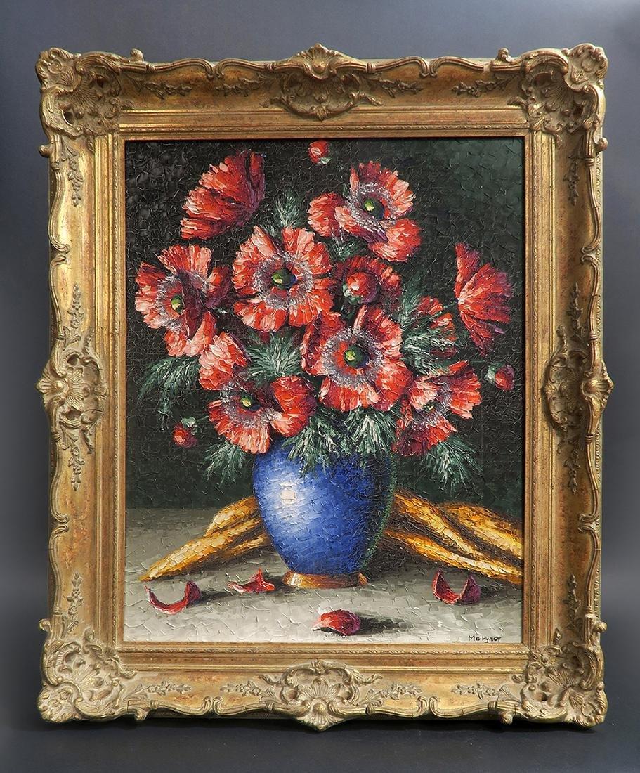 "Oil on Canvas by Melynov ""Still life"""