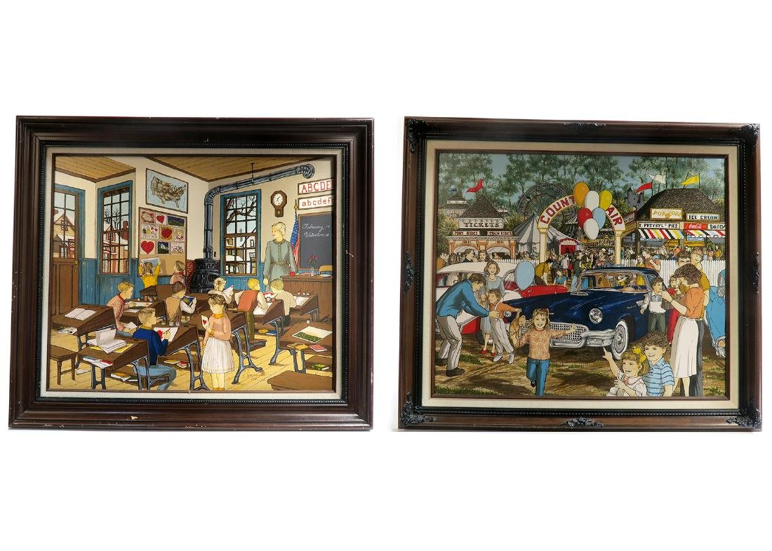 Pair Of H. Hargrove Limited Edition Embellished Signed!