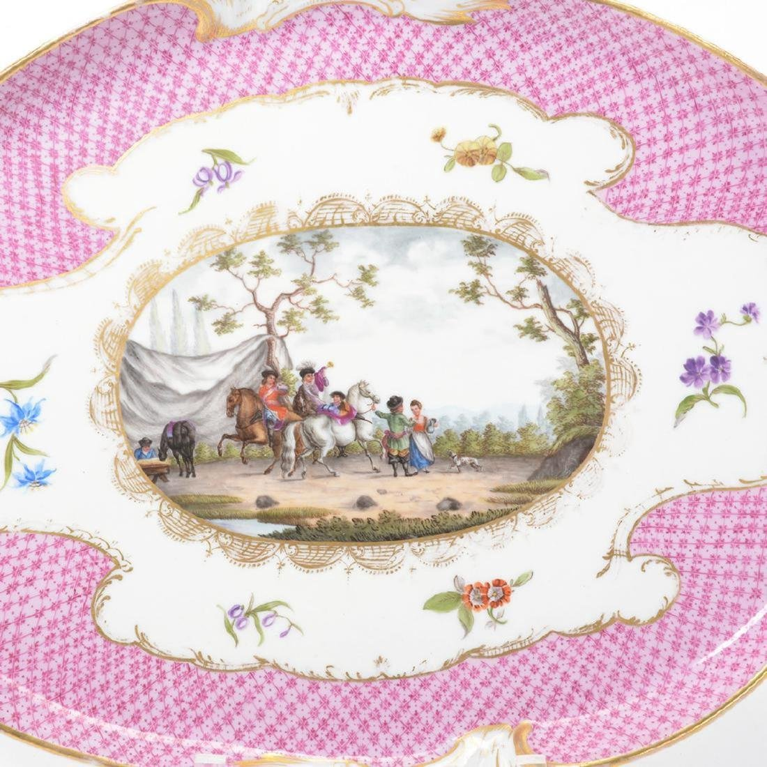 """Meissen"" Porcelain Tea Service/Tray (6 Pcs) - 6"
