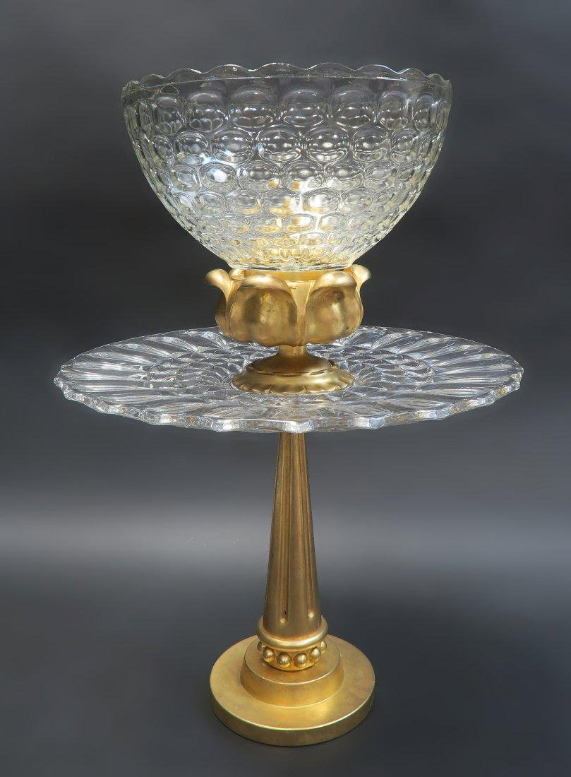 """Large French """"Art Deco"""" Gold Plated/Bronze Centerpiece"""