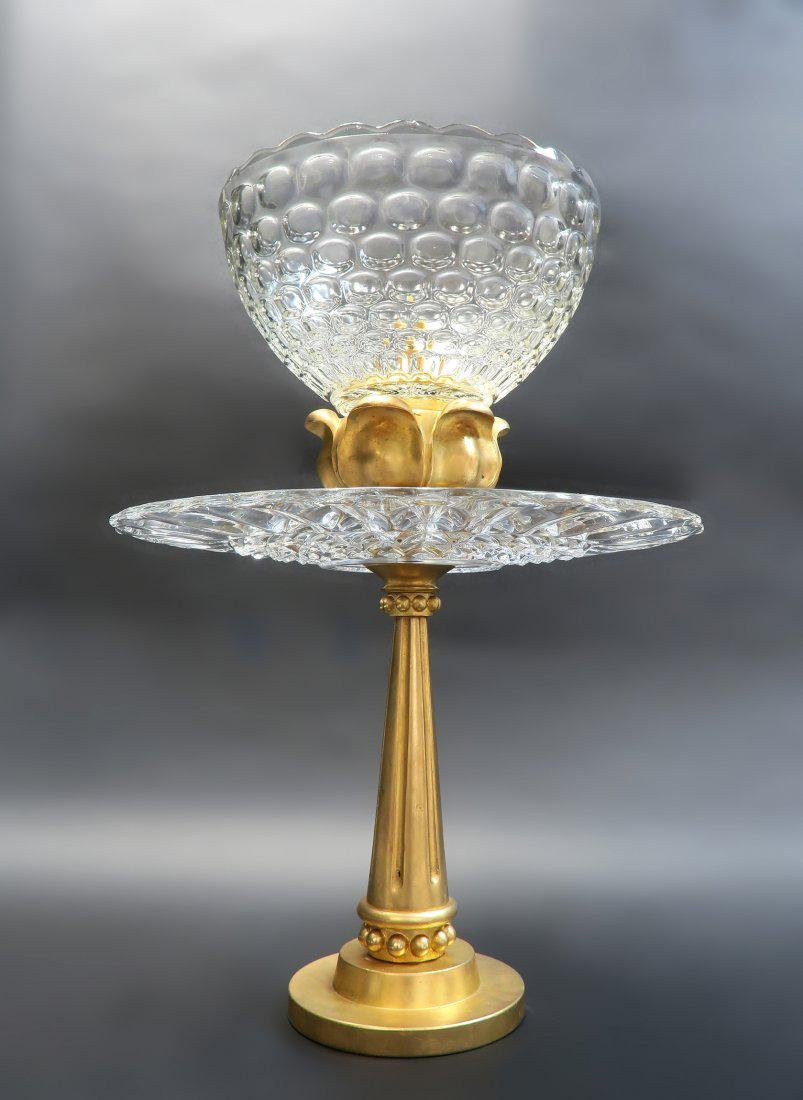 """Large French """"Art Deco"""" Gold Plated/Bronze Centerpiece - 2"""