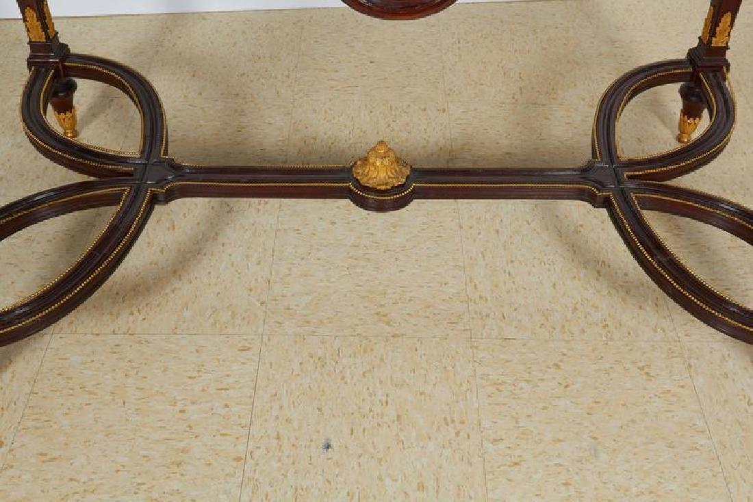 Fine Ormolu Jasperware Wedgewood-Mounted Mahogany Table - 4